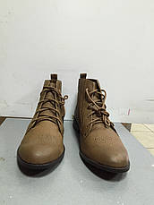 Ботинки женские демисезонные на шнурках светло-коричневые на низком ходу Pull@Bear, фото 2