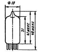 Радиолампа 6Ж2П высокочастотный пентод