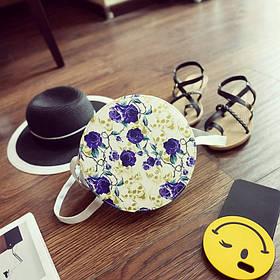 Милі круглі сумочки з модними принтами