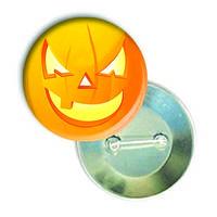 """Закатной круглый значок - смайлик """"Хеллоуин-Однозубик"""""""