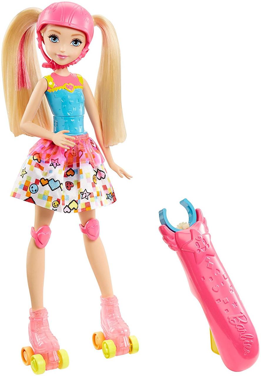 "Кукла Барби ""Героиня Видеоигр"" на светящихся роликах / Barbie Video Game Hero Girls Anime Doll"