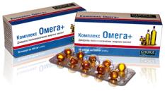 Омега+     - Источник полененасыщенных жирных кислот 1 уп = 30 капсул