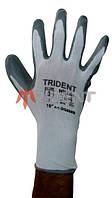 Перчатки нейлоновые с нитриловым покрытием TRIDENT 608