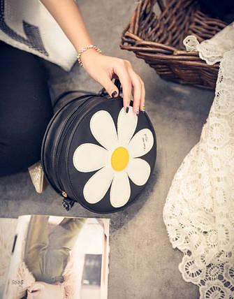Милые круглые сумки с узором в ромашку, фото 2