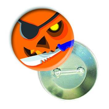 """Закатной круглый значок - смайлик """"Хеллоуин-Пират"""""""