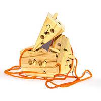 Шнуровка Сыр с деревянной иголкой