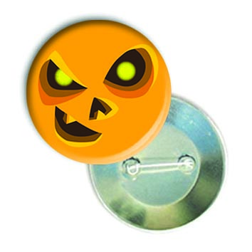 """Закатной круглый значок - смайл """"Хеллоуин-Подстрекатель"""""""