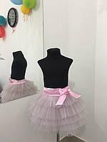 Стильная детская юбка-пачка в нежно розовом цвете. Арт-1538