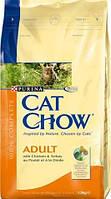 Cat Chow Adult Turkey&Chicken 15 кг Сухой корм для взрослых кошек с индейкой и курицей