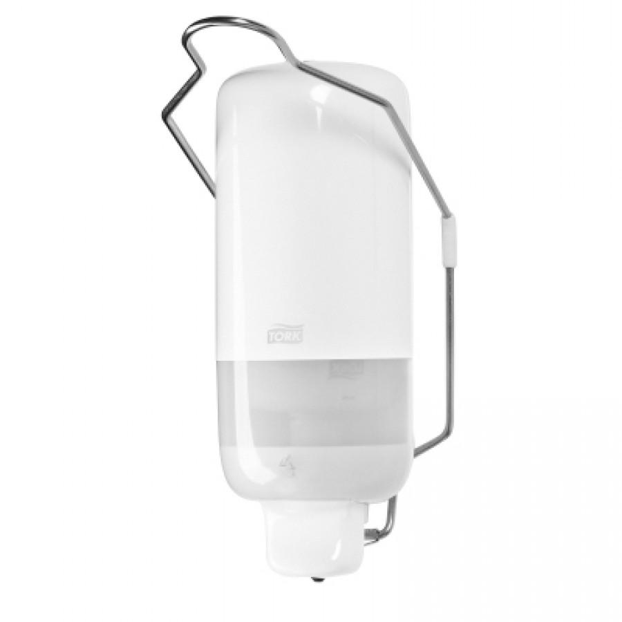 Диспенсер Макси для жидкого мыла с локтевым приводом Tork белый