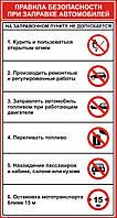 Стенд по охране труда «Правила безопасности при заправке автомобилей»