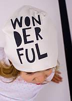 Детская шапка ТОМА для девочек оптом размер 48-50-52, фото 1