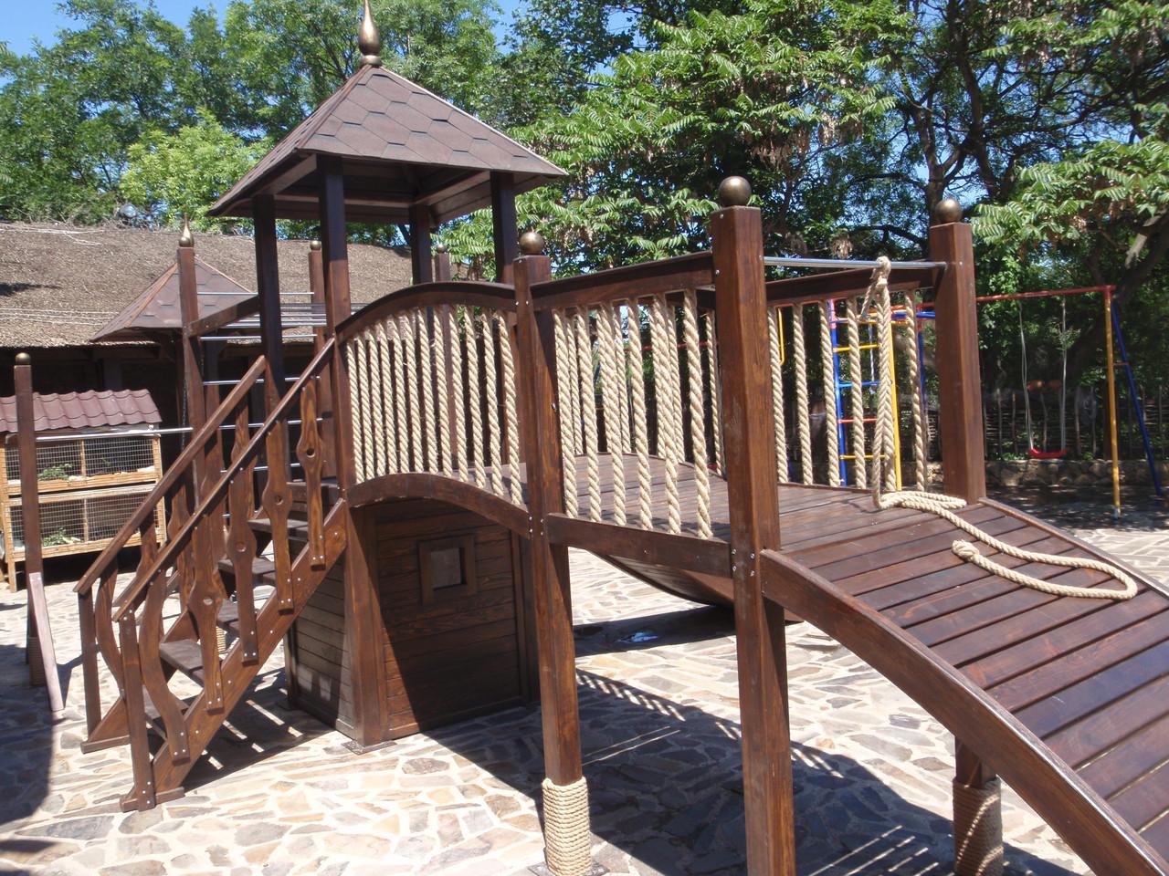Деревянная детская площадка - АРТ-БАСТИОН в Киеве