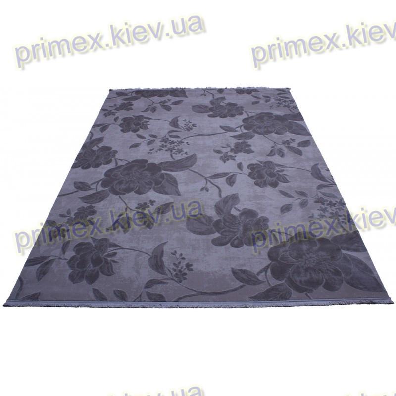Акриловый рельефный ковер Табоо (Букет) цвет серый