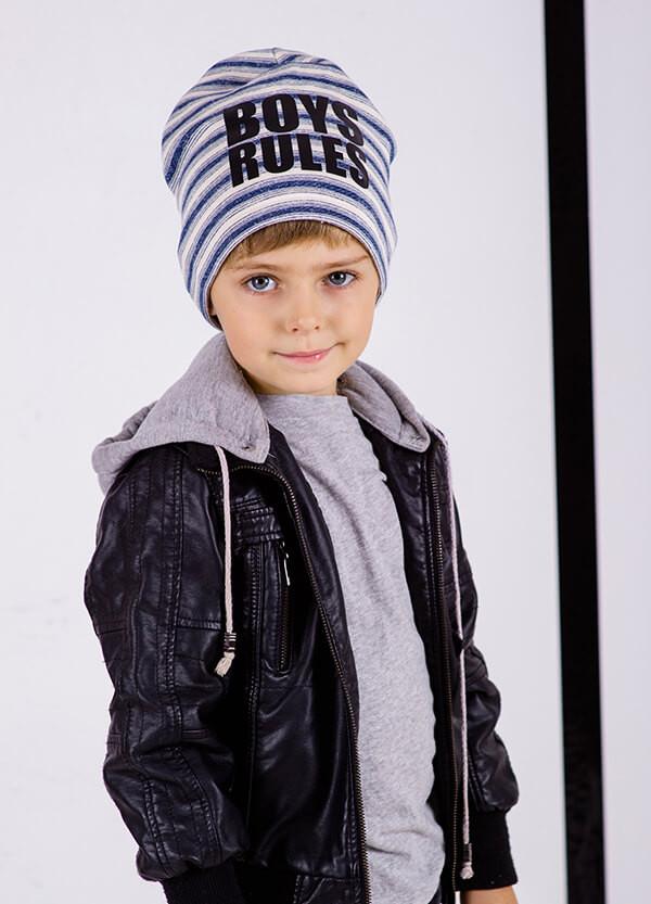 Детская шапка ЭНРИКЕ для мальчиков оптом размер 50-52-54