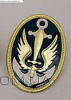 Кокарда морской пехоты золото металическая