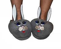 """Тапочки- игрушка """"Братья кролики""""  (взрослые) от 33 до 45разм."""