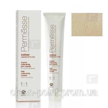 Barex Крем-краска для волос с маслом Карите Permesse тон 11.01 Ультрасветлый блондин натуральный пепельный.