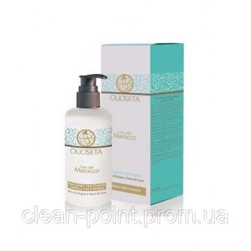 BAREX Olioseta Увлажняющий кондиционер для тонких и светлых волос с маслом арганы и семян льна 750 мл