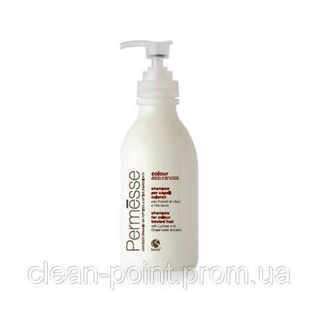 Barex PERMESSE Шампунь для окрашенных волос с экстрактом личи и красного винограда 1000 мл.