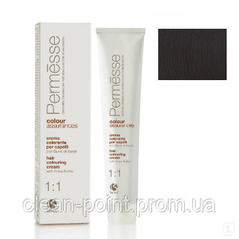Barex Крем-краска для волос с маслом Карите Permesse тон 2.0 Супер темный каштан