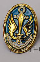 Кокарда морской пехоты золото пластик