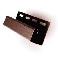 Сайдинг FASIDING Профиль J-trim коричневый