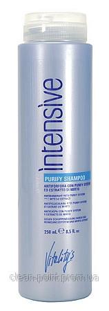 VITALITY'S Intensive Purufy Shampoo - Очищающий шампунь против перхоти с экстрактом мирта 250 мл.