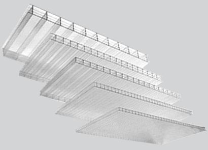 Сотовый поликарбонат Ultramarin 8  мм 8 лет прозрачный