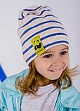 Детская шапка КИН для девочек оптом размер 46-48-50, фото 2