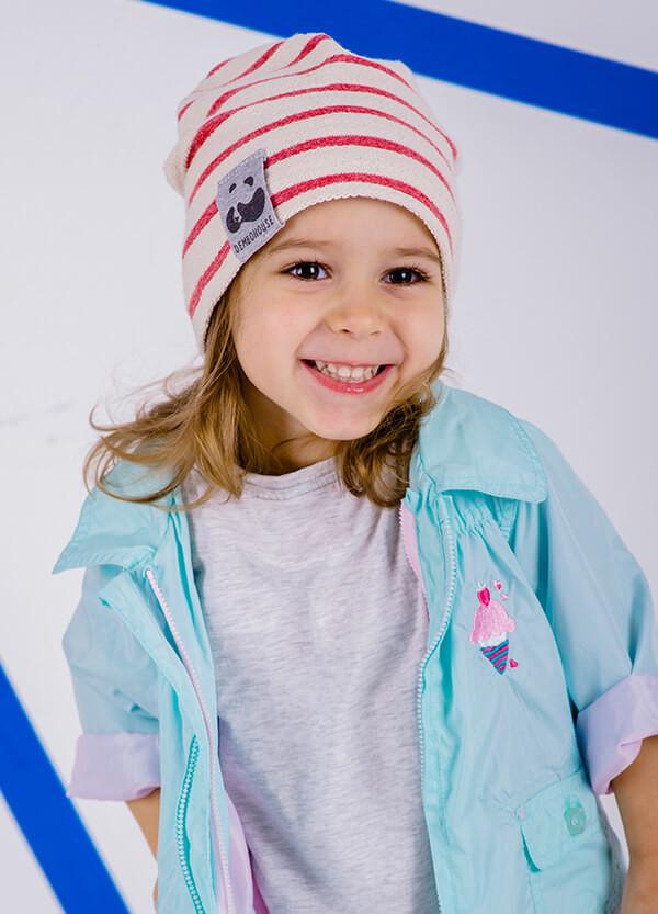 Детская шапка КИН для девочек оптом размер 46-48-50