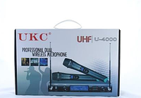Микрофон UKC DM-4000 UHF + 2 микрофона