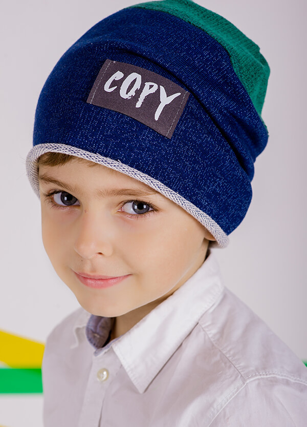 Детская шапка ВИТО для мальчиков оптом размер 50-52-54