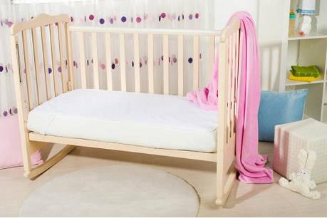 Непромокаемый наматрасник в детскую кроватку 60х120, хлопок 100%, фото 2