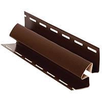 Сайдинг FASIDING Профиль внутренний угол коричневый