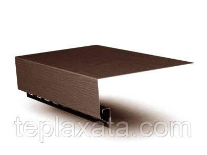 ОПТ - Сайдинг FASIDING Профиль околооконный коричневый 14 см