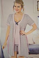 Пижама с халатом (тройка)