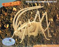 Сверчок - деревянная 3Д модель (2 пластины)