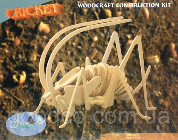 Сверчок - деревянная 3Д модель