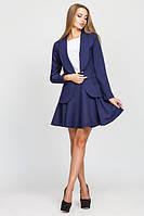 Женский темно-синий  костюм  Жанна с юбкой   Leo Pride  42-48 размеры