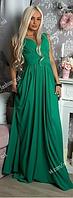 Изумрудное платье в пол Donna Saggia (масло). (Арт. АР)