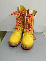 Ботинки женские демисезонные на шнурках  яркие Vivian Royal
