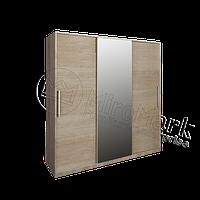 Соната шкаф-купе 2 м декор глянец белый-дуб сонома
