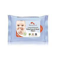Влажные органические назальные салфетки для младенцев с морской солью,алоэ и ромашкой 24шт Mommy Care (952935)