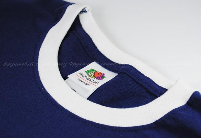 Мужская футболка комбинированная, Тёмно-Синий/Белый