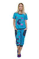 Пижама женская с бриджами Турция