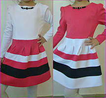 Платье для девочки Лоранж 116-134 см КОРАЛЛ,МАЛИНА,МЯТА