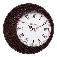 Часы в стиле крокодильей кожи Коричневые Leather Brown