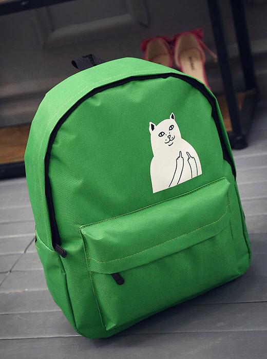 """Тканевый рюкзак с наглым котом """"Кот Fuck"""""""