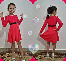 """Стильное детское платье """"Mosa"""" 116-140 см  Коралл, Мята"""